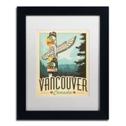 "Trademark Anderson ""Vancouver, Canada"" Art, White Matte With Black Frame, 11"" x 14"""
