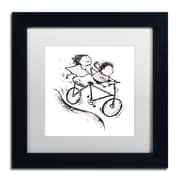 Trademark Carla Martell Bike Kids Art, White Matte W/Black Frame, 11 x 11