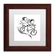Trademark Carla Martell Bike Kids Art, White Matte W/Wood Frame, 11 x 11