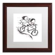 Trademark Carla Martell Bike Kids Art, White Matte W/Wood Frame, 16 x 16