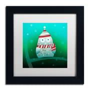 Trademark Carla Martell Owl in Tree Art, White Matte W/Black Frame, 11 x 11
