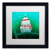 Trademark Carla Martell Owl in Tree Art, White Matte W/Black Frame, 16 x 16