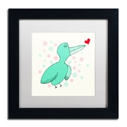 "Trademark Carla Martell ""Dreamy Love Bird"" Art, White Matte W/Black Frame, 11"" x 11"""