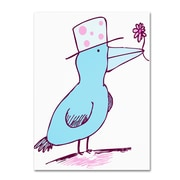 "Trademark Carla Martell ""Flower Bird"" Gallery-Wrapped Canvas Art, 24"" x 32"""