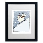 """Trademark Carla Martell """"Kind Dog"""" Art, White Matte W/Black Frame, 16"""" x 20"""""""