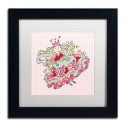 """Trademark Carla Martell """"Little Flower Princess"""" Art, White Matte W/Black Frame, 11"""" x 11"""""""