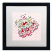 """Trademark Carla Martell """"Little Flower Princess"""" Art, White Matte W/Black Frame, 16"""" x 16"""""""