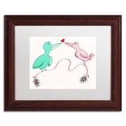 Trademark Carla Martell Love Birds Art, White Matte W/Wood Frame, 11 x 14