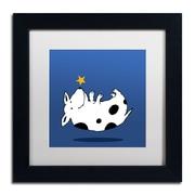"""Trademark Carla Martell """"Star Dog"""" Art, White Matte W/Black Frame, 11"""" x 11"""""""