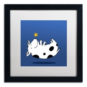 "Trademark Carla Martell ""Star Dog"" Art, White Matte W/Black Frame, 16"" x 16"""