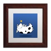 """Trademark Carla Martell """"Star Dog"""" Art, White Matte W/Wood Frame, 11"""" x 11"""""""