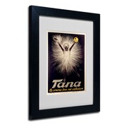 "Trademark Leonetto Cappiello ""Tana Shoe Polish"" Art, White Matte With Black Frame, 11"" x 14"""