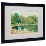 "Trademark Childe Hassam ""Central Park"" Art, White Matte With Black Frame, 16"" x 20"""