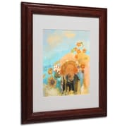 "Trademark Odilon Redon ""Evocation of Roussel 1912"" Art, White Matte W/Wood Frame, 11"" x 14"""