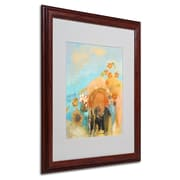 "Trademark Odilon Redon ""Evocation of Roussel 1912"" Art, White Matte W/Wood Frame, 16"" x 20"""