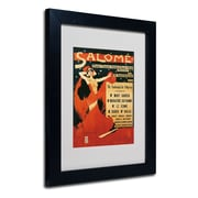 "Trademark Richard Strauss ""Poster of Opera Salome"" Art, White Matte W/Black Frame, 11"" x 14"""