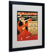 "Trademark Richard Strauss ""Poster of Opera Salome"" Art, White Matte W/Black Frame, 16"" x 20"""