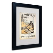 "Trademark Richard Wagner ""Poster of the Valkyrie"" Art, White Matte With Black Frame, 11"" x 14"""
