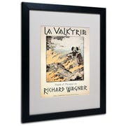 "Trademark Richard Wagner ""Poster of the Valkyrie"" Art, White Matte With Black Frame, 16"" x 20"""