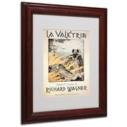 Trademark Richard Wagner Poster of the Valkyrie Art, White Matte With Wood Frame, 11 x 14