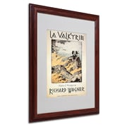 "Trademark Richard Wagner ""Poster of the Valkyrie"" Art, White Matte With Wood Frame, 16"" x 20"""