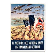 "Trademark ""French Propaganda Poster from World.. "" Gallery-Wrapped Canvas Art, 18"" x 24"""