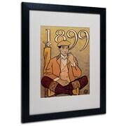 "Trademark Edward Penfield ""Golf Calendar 1899"" Art, White Matte With Black Frame, 16"" x 20"""