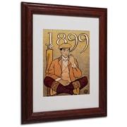 """Trademark Edward Penfield """"Golf Calendar 1899"""" Art, White Matte With wood Frame, 11"""" x 14"""""""