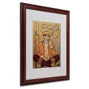 """Trademark Edward Penfield """"Golf Calendar 1899"""" Art, White Matte With wood Frame, 16"""" x 20"""""""