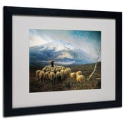 Trademark Achilles Tominetti Mountain Landscape Art, White Matte With Black Frame, 16 x 20