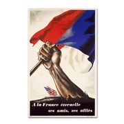 Trademark Poster for Liberation of France Gallery-Wrapped Canvas Art, 12 x 19