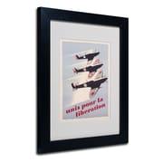 "Trademark ""Propaganda Poster for Liberation"" Art, White Matte W/Black Frame, 11"" x 14"""