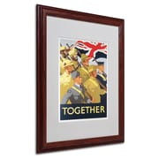 Trademark Together Propaganda Poster Art, White Matte W/Wood Frame, 16 x 20