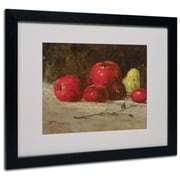Trademark Gustave Courbet Apples and Pears Art, White Matte With Black Frame, 16 x 20