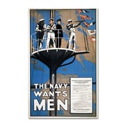 Trademark Recruitment Poster for the Royal.. Gallery-Wrapped Canvas Art, 22 x 32
