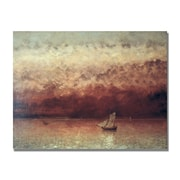 "Trademark Gustave Courbet ""Lake Leman with Setting Sun"" Gallery-Wrapped Canvas Art, 24"" x 32"""