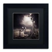 "Trademark Erik Brede ""Is There Anybody Out There"" Art, Black Matte W/Black Frame, 11"" x 11"""