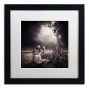 "Trademark Erik Brede ""Is There Anybody Out There"" Art, White Matte W/Black Frame, 16"" x 16"""