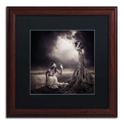"Trademark Erik Brede ""Is There Anybody Out There"" Art, Black Matte W/Wood Frame, 16"" x 16"""