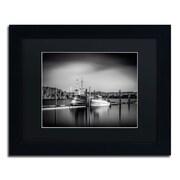 "Trademark Erik Brede ""Lake Oyeren III"" Art, Black Matte W/Black Frame, 11"" x 14"""