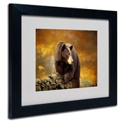 Trademark Lois Bryan Bear Went Over the Mountain Art, White Matte With Black Frame, 11 x 14