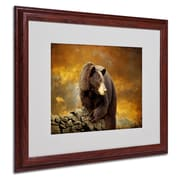 Trademark Lois Bryan Bear Went Over the Mountain Art, White Matte With Wood Frame, 16 x 20