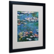"Trademark Claude Monet ""Waterlilies Classic"" Art, White Matte With Black Frame, 16"" x 20"""