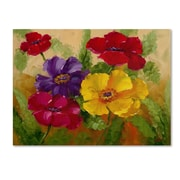 """Trademark Rio """"Flowers"""" Gallery-Wrapped Canvas Art, 24"""" x 32"""""""