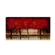 """Trademark Rio """"Parade of Red Trees II"""" Gallery-Wrapped Canvas Arts"""