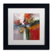 "Trademark Ricardo Tapia ""Bounce"" Canvas Art, White Matte With Black Frame, 11"" x 11"""