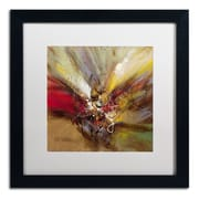 "Trademark Ricardo Tapia ""Sunrise"" Canvas Art, White Matte With Black Frame, 16"" x 16"""
