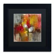 "Trademark Ricardo Tapia ""Certain"" Canvas Art, Black Matte With Black Frame, 11"" x 11"""