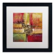 """Trademark Ricardo Tapia """"Round and Round"""" Canvas Art, White Matte W/Black Frame, 16"""" x 16"""""""