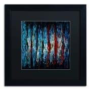 """Trademark Ricardo Tapia """"Miami"""" Canvas Art, Black Matte With Black Frame, 16"""" x 16"""""""
